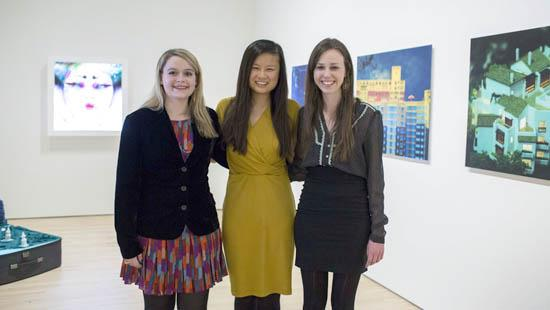 Greenberg Undergraduate Curatorial Fellowship recipients Elizabeth Korb, Daniell