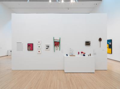 Installation view, Rosalyn Drexler: Who Does She Think She Is?, 2017.