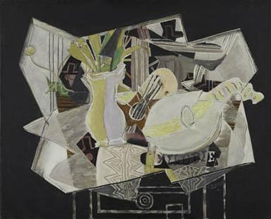 Georges Braque, Vase, Palette, and Mandolin, 1936.