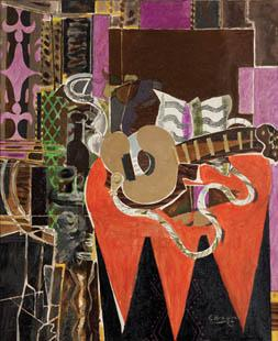 Georges Braque, Mandolin and Score (The Banjo), 1941.