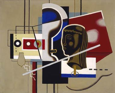 Willi Baumeister, Still Life with Head, 1930.