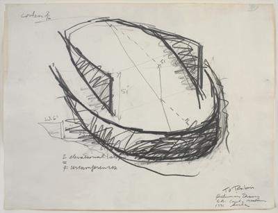 Richard Serra, Untitled (Preliminary Drawing for L.A. County Museum), 1971.